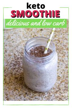 Check out this simple Keto Smoothie recipe! It's only 6 net carbs!