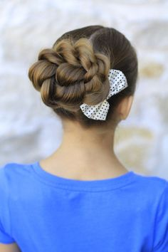 Rope Twisted Bun | Prom Hairstyles and more Hairstyles from CuteGirlsHairstyles.com