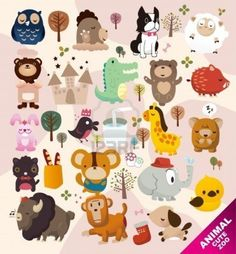 Cute Animals Zoo Royalty Free Cliparts, Vectors, And Stock Illustration. Image 8504756.