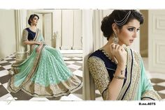 Savvys Bollywood Saree Indian Designer Party wear Pakistani Women Lehenga 4075 #SavvysStore #Saree