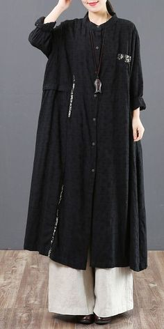 Women Loose Button Down Maxi Shirt Dresses For Spring 6123 Modern Japanese Clothing, Red Black Dress, Fashion Corner, Maxi Shirt Dress, Maxi Styles, Japanese Outfits, Linen Dresses, Boho Dress, Fashion Fashion