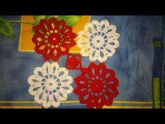 CROCHET Flower Motif Easy Tutorial - YouTube