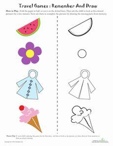 Visual Memory Game 1 Worksheet - preschool car game