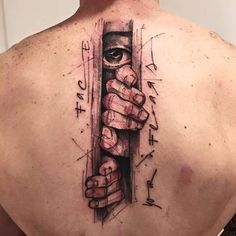 Back Tattoos Archives - InkStyleMag Fear Tattoo, Tattoo Son, Bicep Tattoo, Book Tattoo, Leg Tattoos, Tatoos, Rib Tattoos For Guys, Black Girls With Tattoos, Black And Grey Tattoos
