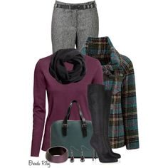 A fashion look from September 2013 featuring H&M sweaters, Joe Browns coats and Gardeur pants. Browse and shop related looks.