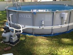 Hayward Thru The Wall Wide Mouth Skimmer Installed On Intex Ultra Frame Rectangle Poo Piscine
