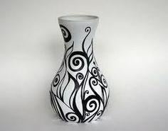 Sharpie/Paint on (spray painted white) vase