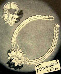 1939 Coro jewelry ad 'Perennials'