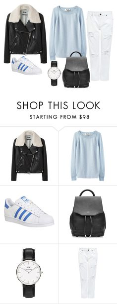 """Untitled #7836"" by beatrizibelo ❤ liked on Polyvore featuring Acne Studios, adidas, rag & bone and Edit"