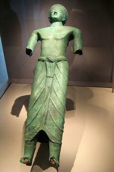 5 ft. Bronze Statue of Hawtar'a-that, a member of the elite in the Kingdom of Saba in ancient Yemen, 6-5th c. BCE. Nat Mus of Sana'a