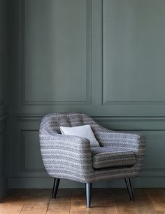 Gable fabric in charcoal by Jane Churchill