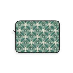 Green Vintage Laptop Sleeve – WavyBazaar Macbook Sleeve, Scandinavian Art, Geometric Pillow, Beach Print, Retro Pattern, Cat Paws, Retro Art, Sleeve Designs, Laptop Sleeves