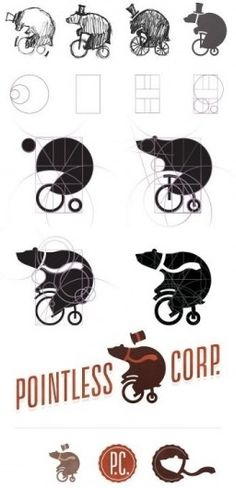 bear illustration process — Designspiration