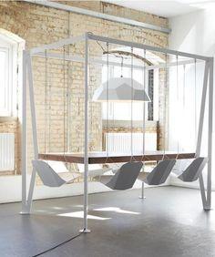 Rectangular #table SWING by Duffy London @duffylondon