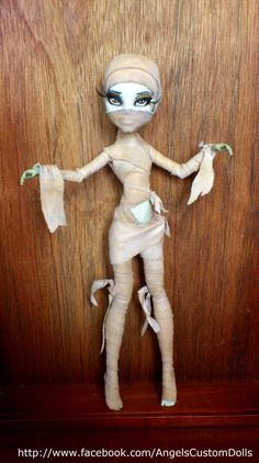 Monster High Custom  Mummy CAM Cat and by butterflyindisguise, $90.00