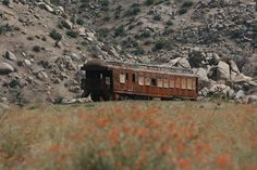 Abandoned train in Pioneer Town, California.(photo by Courtney Brooke)  submission by dreamboatcourtney.