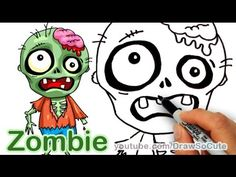 How to Draw a Zombie Cute step by step Animated