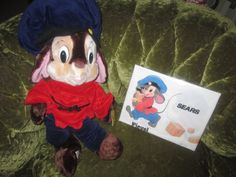"""An American Tale, Fieval Stuffed Animal Toy, Like New With Original Tags and Sears Bag, Vintage 1986 Caltoys Sears Fievel 22""""  Plush Doll by FriendsRetro on Etsy"""
