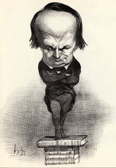 Victor Hugo, caricatura su Le Charivari, 1849, litografia