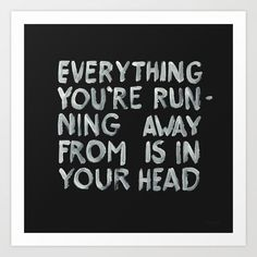 In your head by WRDBNR motivational poster word art print black white inspirational quote motivationmonday quote of the day motivated type swiss wisdom happy fitspo inspirational quote
