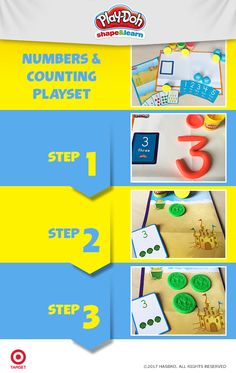 This isn't your average math lesson. With adorable chunky sea animal stampers and colorful counting cards, the Numbers and Counting playset reinforces basic number identification and counting through Play-Doh play. Find the playset at Target.