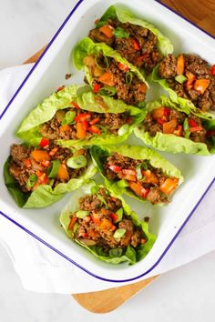 On the table in under 30 minutes, this delicious and healthy pork Yuk Sung family friendly recipe is so easy to make. These Chinese Lettuce Wraps are the perfect mid week supper. Healthy Pork Recipes, Meat Recipes, Asian Recipes, Vegetarian Recipes, Cooking Recipes, Recipes With Mince, Chinese Recipes, Chinese Lettuce, Clean Eating Snacks