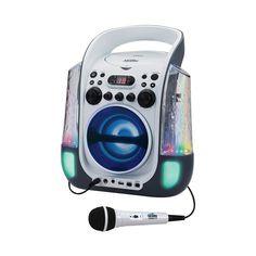 Spectra - Cd+g Portable Karaoke System - White/Black