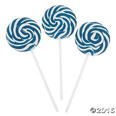 Blue Swirl Lollipops