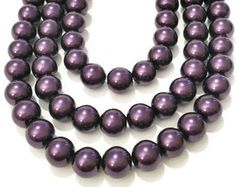 6mm glass beads, 6mm glass pearls, 6mm beads, 6mm plum pearls, 6mm purple pearls, dark purple glass pearls, jewelry supplies, bulk beads by vickysjewelrysupply. Explore more products on http://vickysjewelrysupply.etsy.com