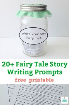 Fairy Tale Story Writing Prompts for Kids of All Ages fairy tale story writing prompts kids can use to reinvent classic fairy tales and children's stories. So much inspiration in a free printable resource. Writing Prompts For Writers, Picture Writing Prompts, Kids Writing, Creative Writing, Writing Area, Writing Workshop, Writing Tips, Fairy Tale Activities, Drama Activities