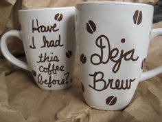Funny coffee mug, Coffee Drinker's gift, novelty mug. $13.00, via Etsy.