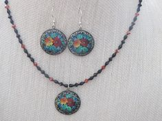 Choice of Paper Mache Pendant/Necklaces and Earrings by jazzybeads