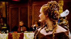 Cersei Lannister Purple Wedding Hair  Game of Thrones season 4