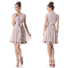 Ever-Pretty-Cap-Sleeve-V-Neck-Bridesmaid-Party-Cocktail-Dress-03681-Size-6-12