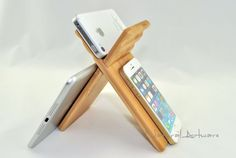 Multi-fonction Natural Wooden Stand, iPad Stand, Phone stand,iPad mini Stand,Gift for IT, Tablet Holder 2 Viewing Angles, Dock on Etsy, $21.01 CAD