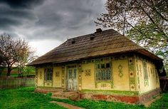An authentic traditional house from Suceava County (Bukovina region), ROMANIA 3 frames HDR via Photomatix Traditional Doors, Traditional House, Beautiful Places To Visit, Peaceful Places, Stone Houses, Bucharest, Cozy Cottage, Eastern Europe, Architecture