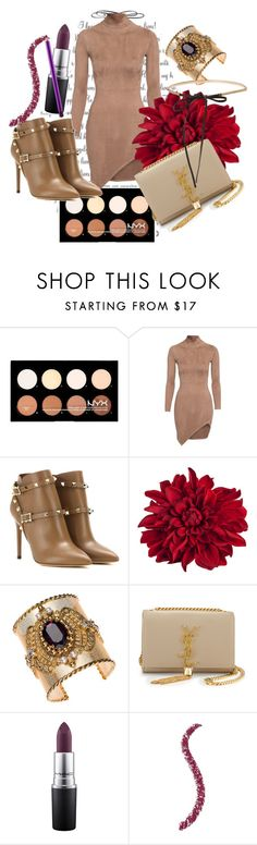 """""""Untitled #122"""" by dreamer3108 on Polyvore featuring Valentino, Thot, Yves Saint Laurent and MAC Cosmetics"""