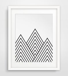 Mountains Geometric Mountain Printable Art par MelindaWoodDesigns