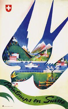 Barberis Franco, 1940, Printemps en Suisse.