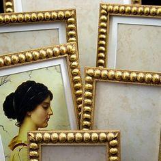 Gold Boules Photo Frames in all sizes. #gold_frames #artfire #tabuladecoro #frames