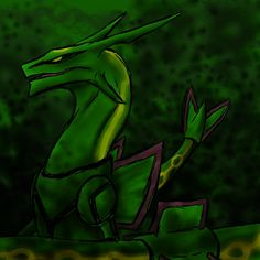 Pokemon no.384 Rayquaza by Kyuubi0017 on deviantART