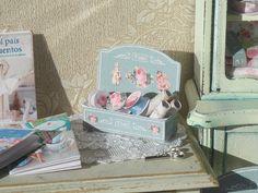 Dollhouse Tilda Lace Display . 1:12 miniature Tilda collection for Dollhouses.