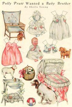 Baby paper dolls 43 / Baby paper