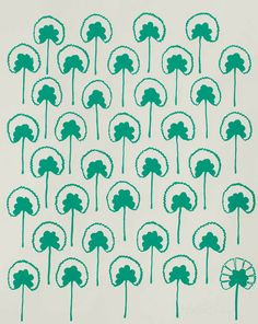 Emerald Geraniums, hand printed by Hable Construction