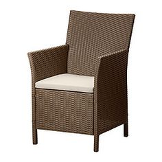 "ARHOLMA armchair with pad, brown Width: 22 1/2 "" Depth: 25 1/4 "" Height: 35 "" Width: 57 cm Depth: 64 cm Height: 89 cm"