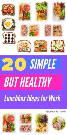 According to experts, the more you cook yourself, the healthier you live. Here are 20 simple but healthy lunch box ideas anyone can prepare in batches and bring to work. #health #healthyrecipes #lunchbox #diet