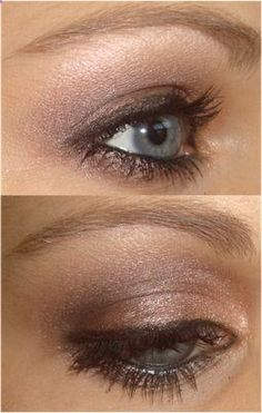 another tutorial using two of my favourite MAC eyeshadows; Satin Taupe All that glitters. The result is a lovely brown smokey eye.