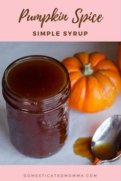 It's time to pumpkin all the things! Jazz up your coffee, hot chocolate, steamed milk or ice cream with this pumpkin spice simple syrup recipe. Simple Syrup, Pumpkin Spice, Hot Chocolate, Jelly, Spices, Sweets, Blog, Recipes, Spice