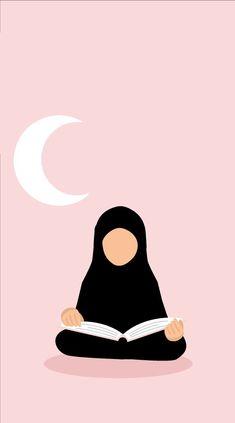 Ride the Qur'an for Ramadan🌙 Muslim Girls, Muslim Couples, Muslim Women, Niqab, Photo Islam, Hijab Drawing, Moslem, Islamic Cartoon, Ramadan Crafts