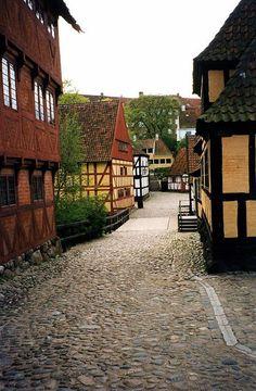 Old town in Aarhus, Denmark